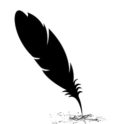 Feather blots vector image