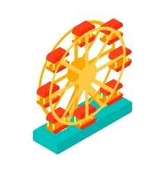 Ferris wheel isometric 3d icon vector image