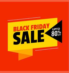 Flat colors black friday sale background design vector