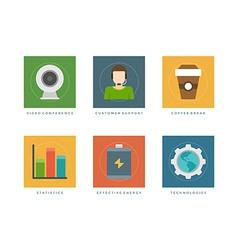 Flat design infographic elements vector image
