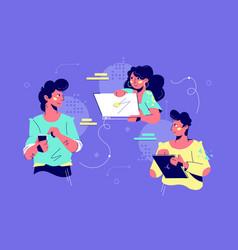 friendly teamwork collaboration vector image