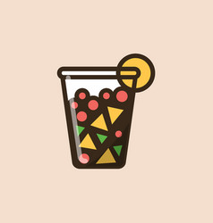 Fruit salad in a plastic container vector