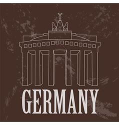 Germany landmarks Retro styled image vector