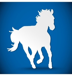 greeting card with silhouette horse vector image