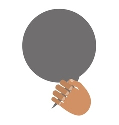 Hand and conversation bubble vector