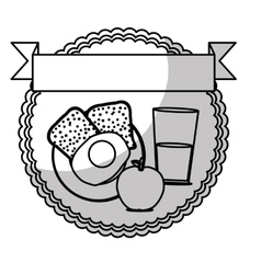 Healthy food emblem image vector