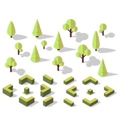 Isometric trees elements vector