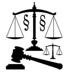 Juridical symbols vector