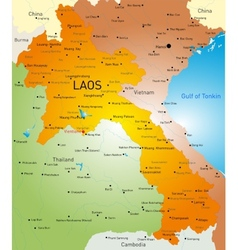 Laos country vector image