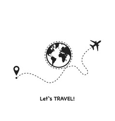 lets go travel on a white background vector image