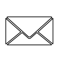 Letter closed message icon vector