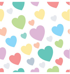 Lovely hearts seamless design pattern vector