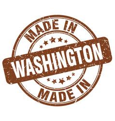 Made in washington brown grunge round stamp vector