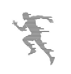 man run striped vector image