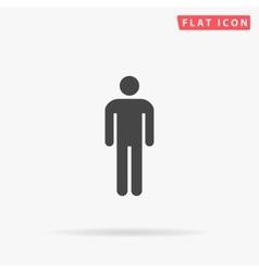 Man simple flat icon vector image
