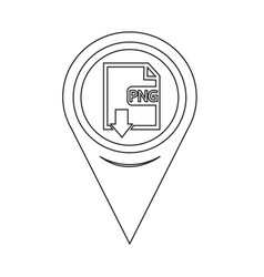 Map pin pointer file type png icon vector