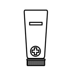 medical cream tube isolated icon vector image
