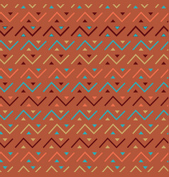 Multicolored seamless tribal pattern background vector