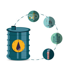Oil industry with barrel vector