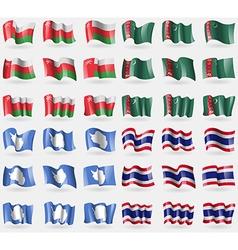 Oman Turkmenistan Antarctica Thailand Set of 36 vector