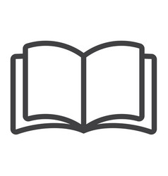 open book line icon web and mobile read mode vector image