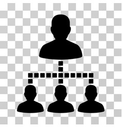 people hierarchy icon vector image