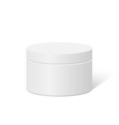 plastic round container box vector image