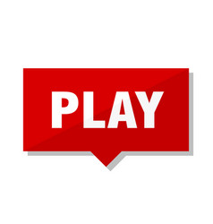 Play red tag vector