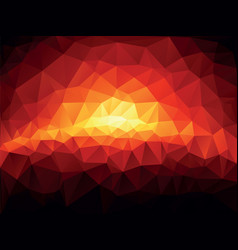 red sunset geometric mosaic background vector image