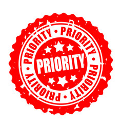Round stamp priority vector