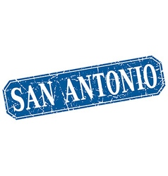 San antonio blue square grunge retro style sign vector