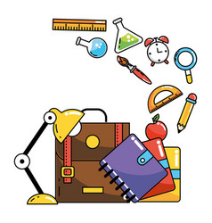 School study element cartoon vector