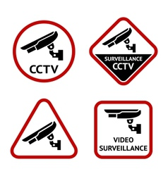 Security camera stickers vector image