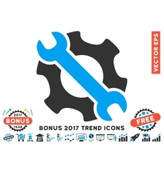 Service Tools Flat Icon With 2017 Bonus Trend vector image