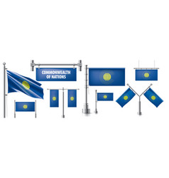 Set national flag commonwealth of vector