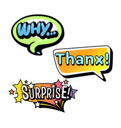Set of bright speech bubbles colorful emotional vector
