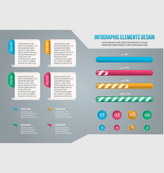 set of business infograph vector image