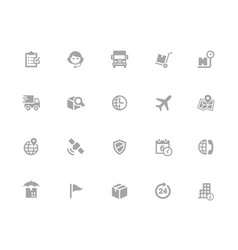 Shipping tracking icons 32 pixels icons white vector