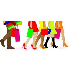 shopping legs vector image
