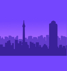 silhouette of london city building landscape vector image