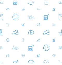 simple icons pattern seamless white background vector image