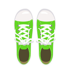 sports shoes gym shoes keds green colors for vector image