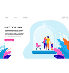 stay at home protect your family quarantine area vector image
