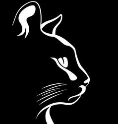 Stencil a cats muzzle vector