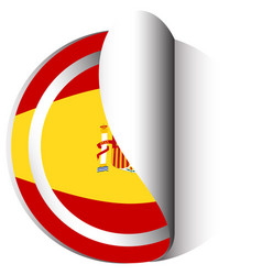 Sticker design for flag of spain vector