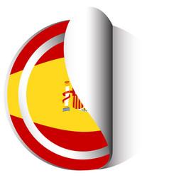 Sticker design for flag of spain vector