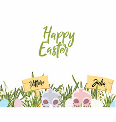 template banner for easter or spring vector image