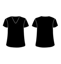 unisex v neckline t-shirt template front vector image
