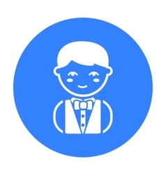 Waiter black icon for web and mobile vector image