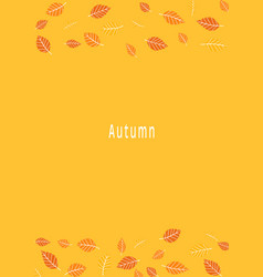 yellow and orange color leaf on background vector image